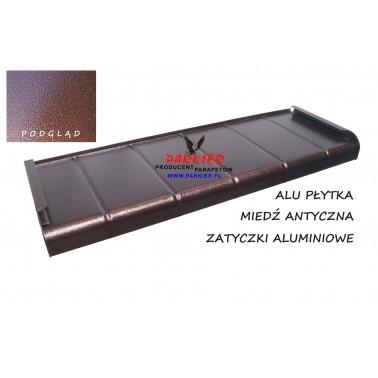 Parapet zewnętrzny Aluminiowy Płytka Miedź Antyczna