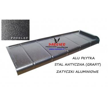 Parapet zewnętrzny Aluminiowy Płytka Stal Antyczna (Grafit)