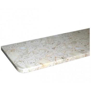 Parapet z konglomeratu marmurowego - Calacatta