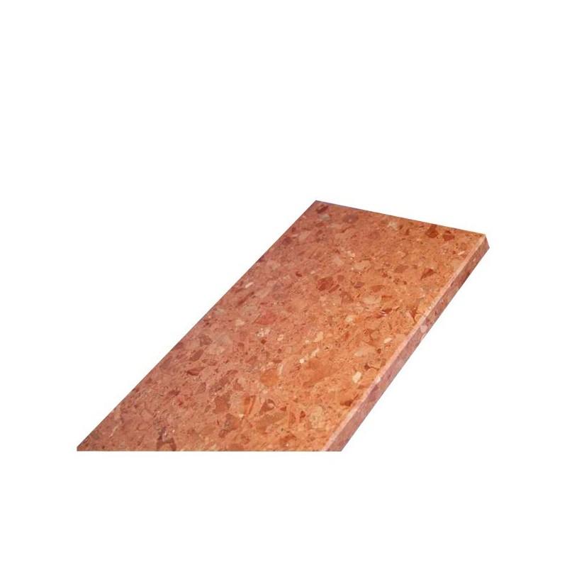 Parapet z konglomeratu marmurowego - Rosso Asiago