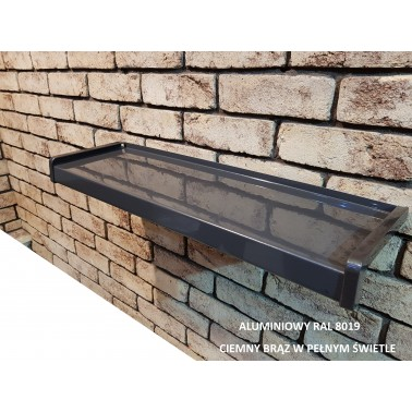 Parapet zewnętrzny Aluminiowy Ral 8019 ciemny brąz