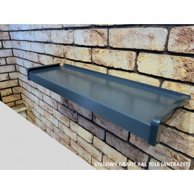 Parapet zewnętrzny stalowy grafit Ral 7016
