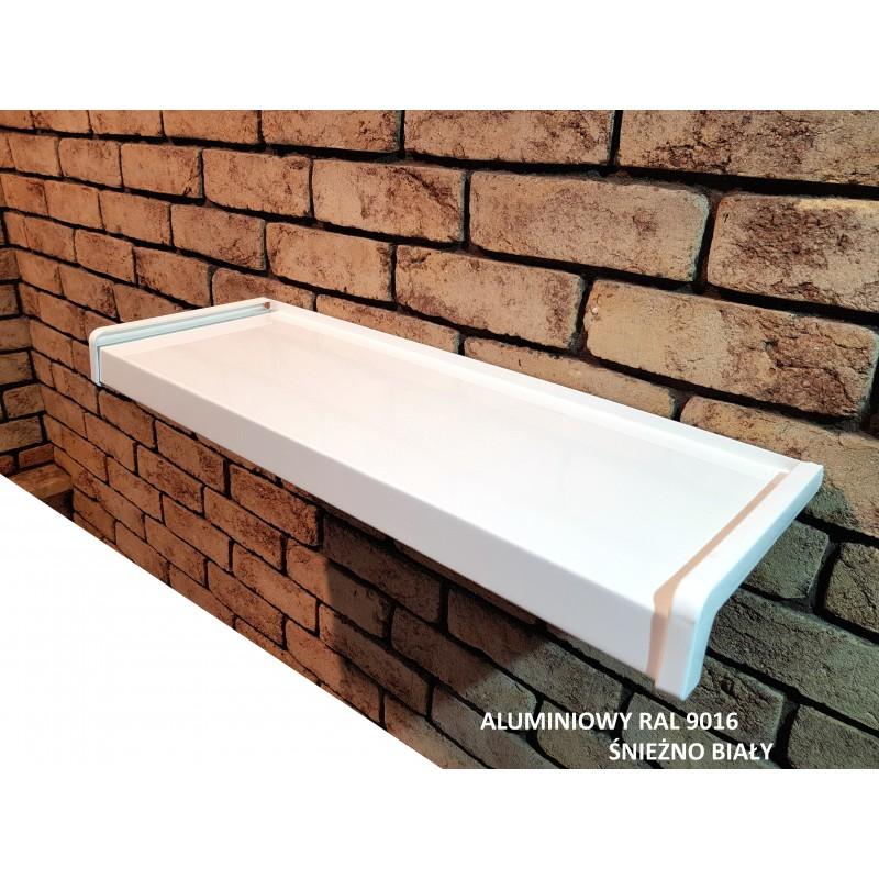 Parapet zewnętrzny Aluminiowy Ral 9016 Śnieżno Biały