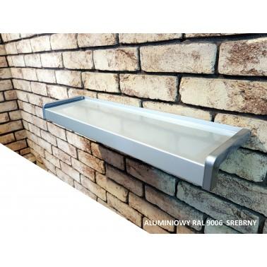 Parapet zewnętrzny Aluminiowy Srebrny Ral 9006