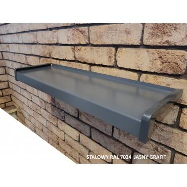 Parapet zewnętrzny stalowy ral 7024 jasny grafit