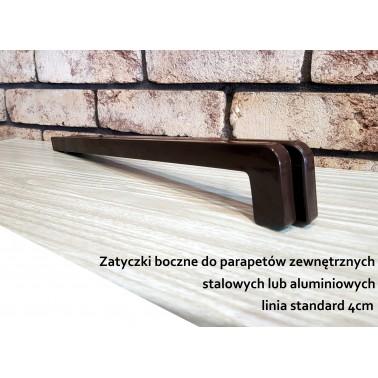 Zatyczki 40cm, (zaślepki) boczne do parapetów zewnetrznych.